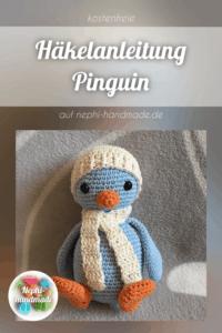 Häkelanleitung Pinguin mit Mütze