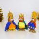 Niedliche Krippenfiguren aus Kastanien und Nüssen basteln