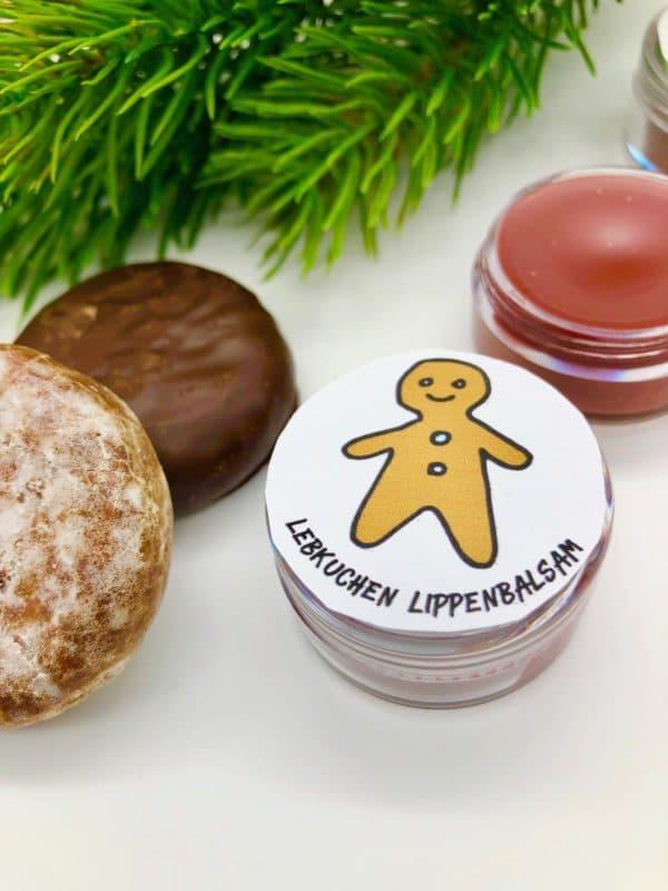Lebkuchen Lippenbalsam selber machen - Last Minute Weihnachts-Geschenk