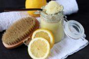 Zitronenpeeling mit Kokosöl