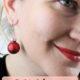 Festliche Ohrringe aus Weihnachtsbaumschmuck