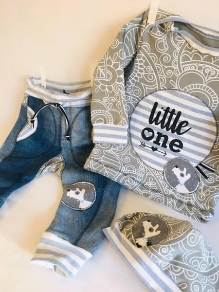 Aus alter Jeans und neuem Jersey :-)