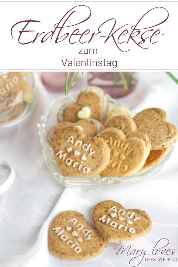 Erdbeer-Kekse zum Valentinstag