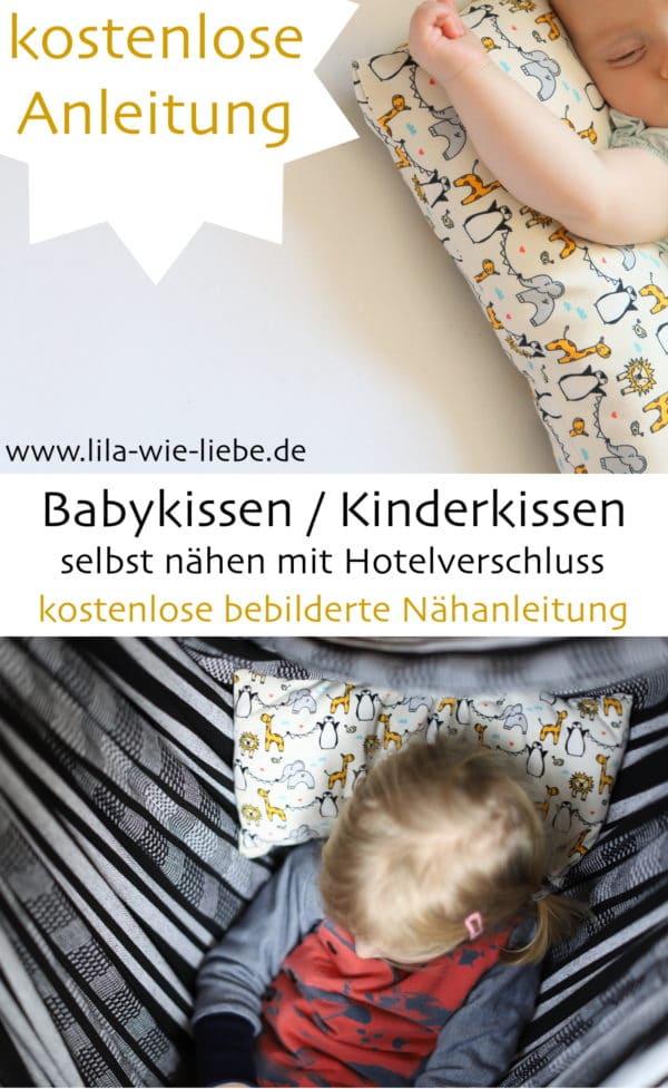 Babykissen / Kinderkissen nähen - kostenlose Anleitung