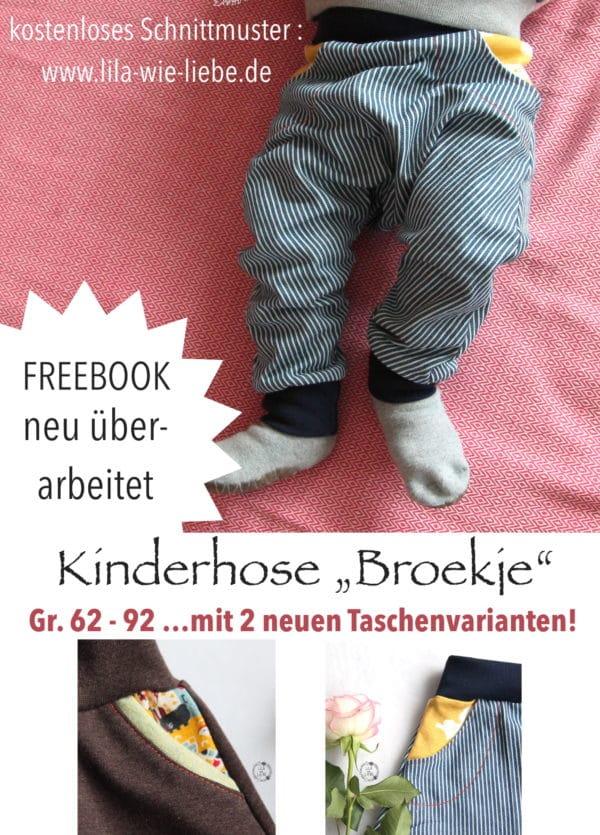 Baby- und Kinderhose nähen mit coolen Hosentaschen