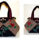 Upcycling Kleine Patchwork Handtasche