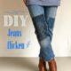 Jeans flicken // sashiko demin