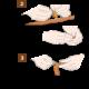 DIY Nietengürtel aus natur gegerbtem Leder