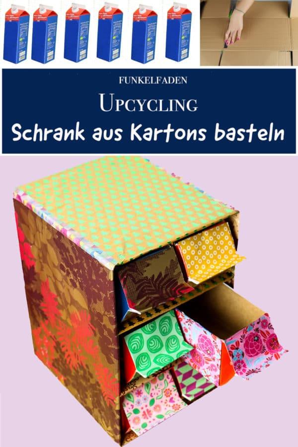 Upcycling - Schrank aus Milchkartons und Pappe basteln