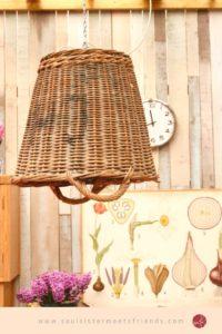 Upcycling: ein Korb als Lampenschirm