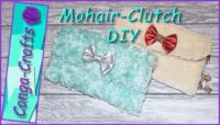 Clutch aus Mohair / Fell / Plüsch nähen