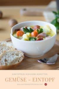 Soulfood: Eintopf mit Kartoffeln, Kohlrabi & Möhren
