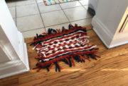 Teppich weben ohne Webrahmen