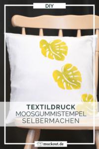 DIY-Geschenkidee: Kissen mit selbstgemachten Stempeln bedrucken