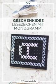 DIY-Geschenkidee: Lesezeichen mit Monogramm besticken