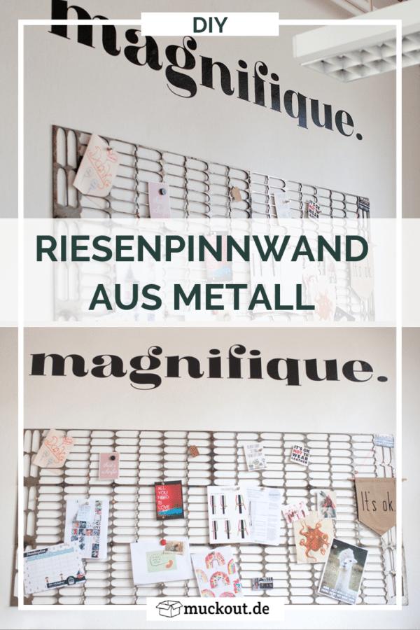 Upcycling-Pinnwand aus Metallresten selber schweißen