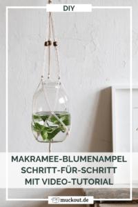 DIY: Makramee-Blumenampel selbermachen inkl. Video