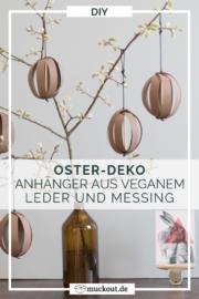 DIY-Deko zu Ostern: Anhänger aus Kunstleder-Papier und Messing