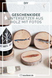 DIY-Geschenkidee für Angler: Untersetzer mit Fisch-Motiven selbermachen