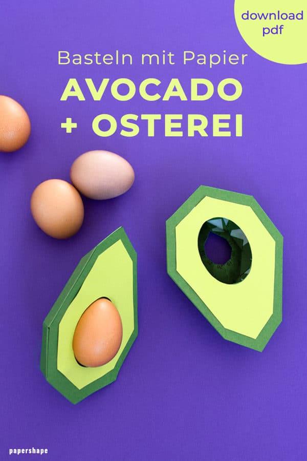 Lustige Tischdeko - Papier Avocado als Eierhalter