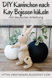 DIY Kaninchen nach Kay Bojesen häkeln mit deutscher Anleitung