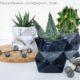 DIY Vasen oder Übertöpfe ganz einfach aus Papier falten