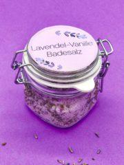 Lavendel Vanille Badesalz selber machen