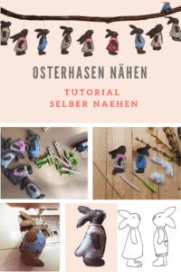 Osterhasen nähen – DIY Tutorial - Osterdeko selbst gemacht