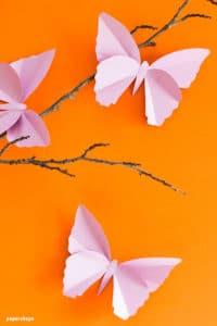 Schöne Schmetterlinge aus Papier