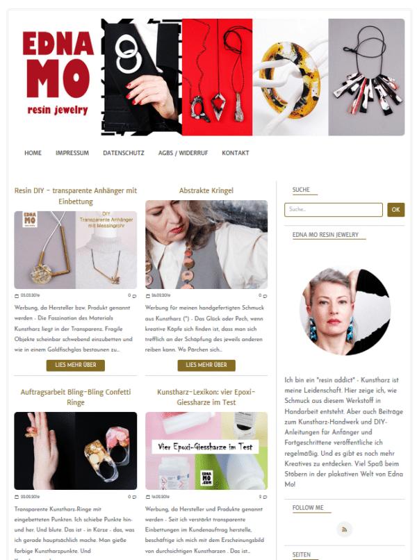 EDNA MO resin jewelry