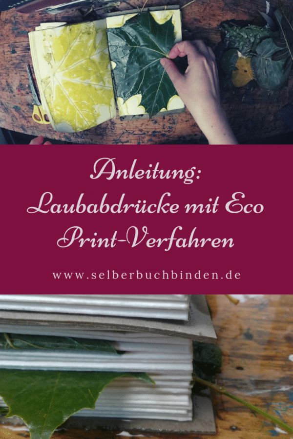 Eco Print auf Papier