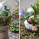 Der Hase im Nest - Moosnest selber bauen, bepflanzen und dekorieren