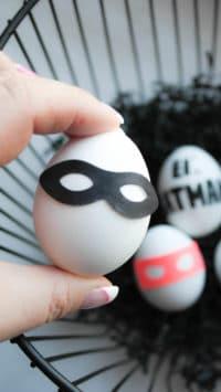 Fixe DIY für Superhelden Ostereier | Vorlage | Plotter