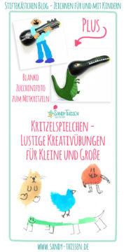 Kritzelspielchen - 2 lustige Kreativübungen für Kleine und Große
