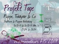 Nähkurs Projekt Stofftiere Wochenende Sa 27.04. 10-14 & So 28.04. 10-15 Uhr
