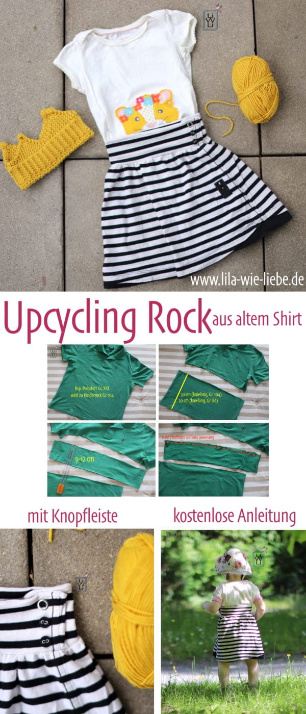 Upcycling-Rock für Kinder FREEBIE