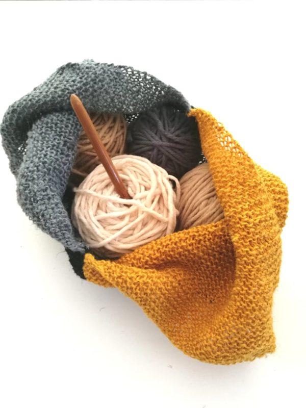 Projekt-Tasche im Bento Style