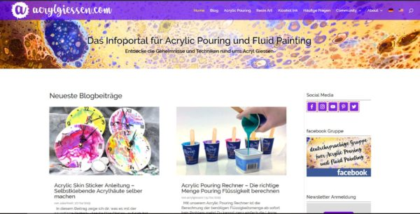 Das Acrylic Pouring und Fluid Painting Infoportal