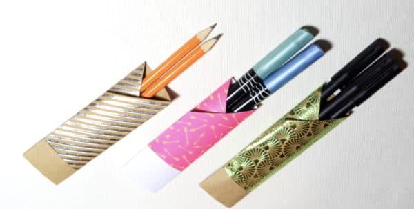 Etui für Stifte aus Papier falten
