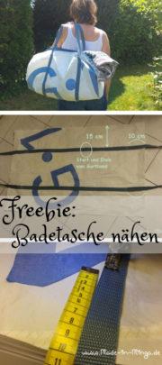 grosse Badetasche nähen - einfach erklärt- gratis Nähanleitung