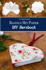 DIY - Herzbuch für Muttertag, als Poesiealbum, Gästebuch für Hochzeit oder Valentinstag
