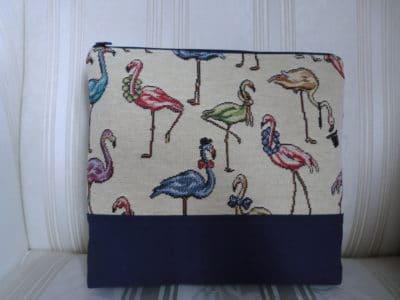 Kosmetiktäschchen mit Flamingos