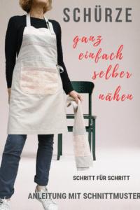 Küchenschürze selber nähen -  Schritt für Schritt Anleitung