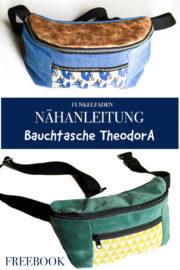 Freebook - Nähanleitung & Schnittmuster Bauchtasche TheodorA