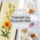 DIY / Upcycling: Altes Bild vom Flohmarkt wird Tablett im Scandi Style