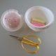 Ein Zuckerdosen-Nadelkissen