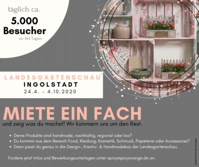 Aussteller wanted für Fachvermietung auf der Landesgartenschau Ingolstadt 2020