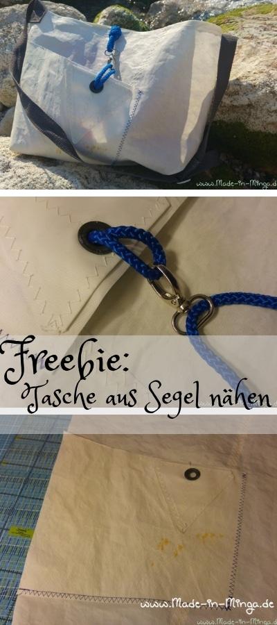 Tasche aus altem Segel nähen - gratis Anleitung