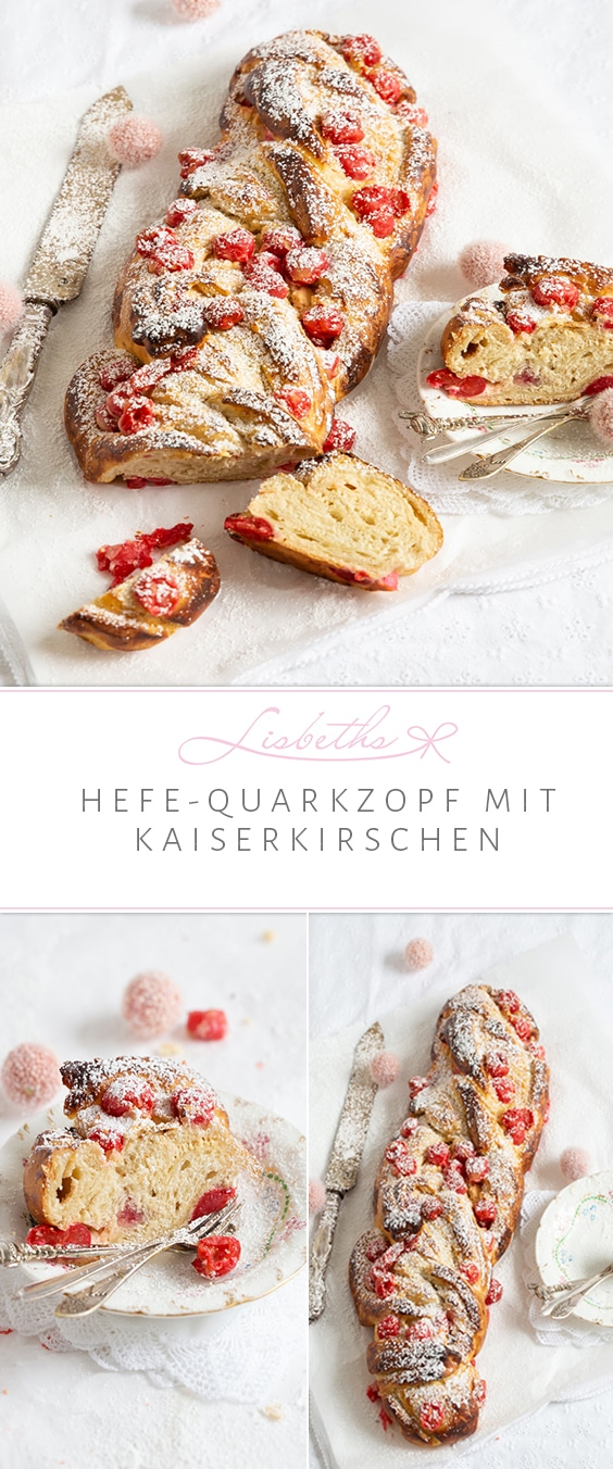 HEFE-QUARK-ZOPF MIT KAISERKIRSCHEN