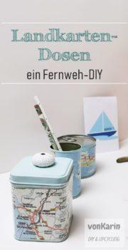 Landkartendosen: ein Fernweh-DIY